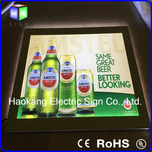 LED Picture Frame Crystal Acrylic Light Box Beer Sign for Wall Mounted Display Board pictures & photos