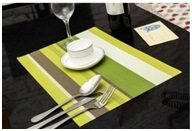 Pure PVC Waterproof Insulated Mat High-Grade Stripe Cushion Table