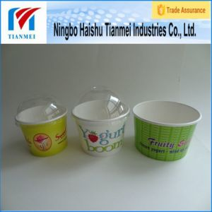 Yogurt Cup with Dome Lid and Frozen Yogurt Spoon pictures & photos