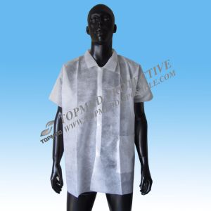 Disposable PP Lab Coat Doctor Gown with Button or Magic Tape pictures & photos