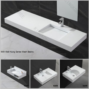Us Popular Hotel Used Countertop Design Bathroom Vanity Basin pictures & photos