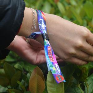 Colorful Design Logo Custom Festival Wristband Snap Closure