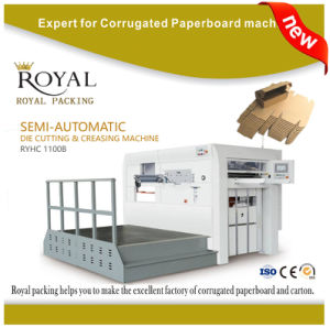 Semi-Automatic Die Cutting & Creasing Machine pictures & photos