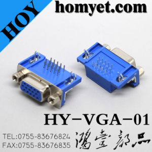 15 Pin Right Angle DIP VGA Female Connector for Cable pictures & photos