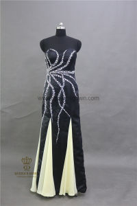Real Photos Customized Evening Dresses Ladies Fashion Dress with Beading pictures & photos