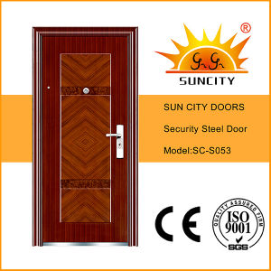 Top Quality New Design Metal Panel Doors (SC-S053) pictures & photos