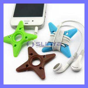 Factory Wholesale Tidy Earphone Wire Bobbin PVC Dart Shape Cable Winder pictures & photos