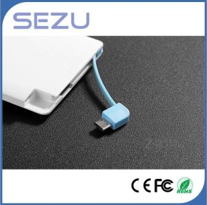 Slim Card Portable Power Bank with Charge Cable for iPhone Adn Samsung Suitable for Promotional Gift pictures & photos