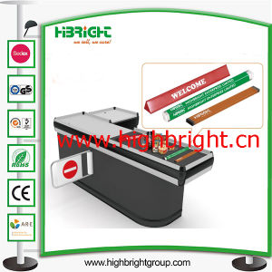 Supermarket PVC Checkout Counter Lane Divider with Advertising Paper pictures & photos