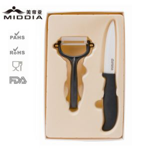 Ceramic Fruit Cutter Knife with Peeler Set for The Best Promotion Gift pictures & photos