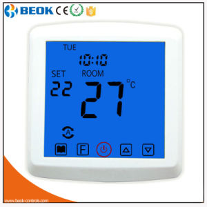 Blue Touch Screen Hotel Room Thermostat for Underfloor Heating pictures & photos
