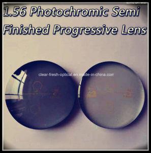 1.56 Photochromic Semi Finished Progressive Lens pictures & photos