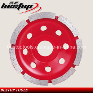 European Quality Diamond Single Row Steel Base Cup Grinding Wheel pictures & photos