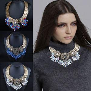 Fashion Jewelry Crystal Pendant Chain Necklace