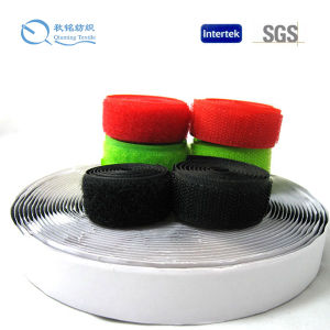 Popular Adhesive Double Sided Plastic Loop Fastener, Hook and Loop Band Factory Price pictures & photos