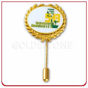 Custom Dyed Black Finish Soft Enamel Metal Lapel Pin pictures & photos