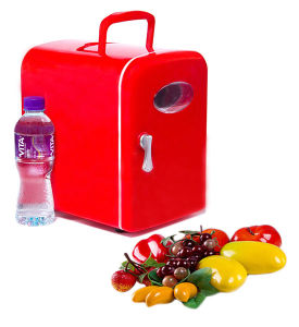Electronic Mini Fridge 4liter DC12V, AC100-240V in Both Cooling and Warming for Car, Home, Office Use pictures & photos