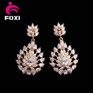 Wholesale Environmental Copper Plated 18k Gold CZ Jewelry Sets pictures & photos