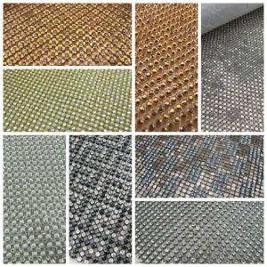 Welcome Customized Rhinestone Hexagonal Aluminum Mesh -Hot Fix pictures & photos