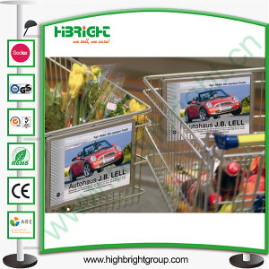 Shopping Cart Sign Holder Display for Advertisement pictures & photos
