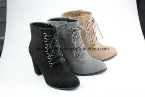 Lace up Block Heel Shoes Women High Heel Boots pictures & photos