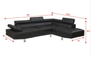 Modern Leather Sofa with Sectional L Shape White pictures & photos