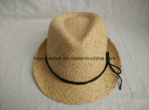 100% Straw Leisurely Style with Natural Color Fedora Hats