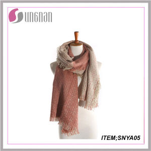 2015fashion Popular Online Wholesale Cheap Cashmere Scarf Knit Tartan Scarf Thick Cashmere Scarf pictures & photos