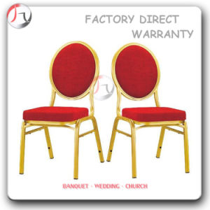 Golden Steel Red Fabric Dining Room Chairs (BC-69) pictures & photos