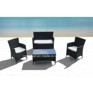 Outdoor Rattan Sofa for Garden with Steel Pipe (8002-3) pictures & photos