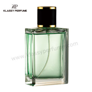 100ml Square Perfume Bottle with Leather Cap