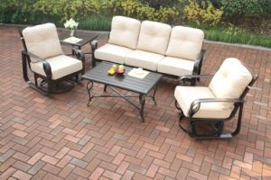 Garden Cast Aluminum Swivel&Glide Chat Group Set Furniture pictures & photos