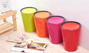 8L Cylinder Shape Home and Office Use Plastic Trash Can pictures & photos