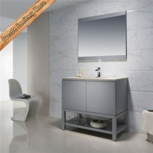 Fed-1208 Free Standing Modern Solid Wood 37inch Matt Grey Finishing Bathroom Vanities pictures & photos