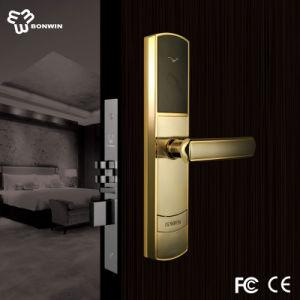 Battery Intelligent Wireless Hotel Handle Mortise Door Locks pictures & photos