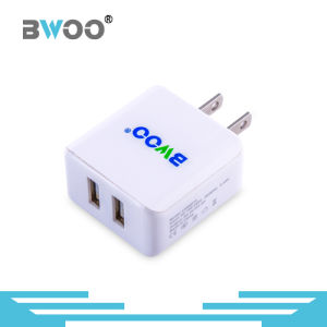 Portable Dual USB Wall Charger for All Mobile Phone pictures & photos