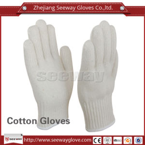 Seeway 2 Layers White Cotton Knitted Kitchen Microwave Oven Heat Insulation Gloves for Hot Objects Scald Prevention