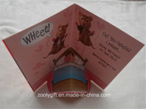 Happy Valentine′s Day Greeting Card 3D Pop up Hand Made Gift Card pictures & photos