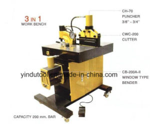 Yuhuan Yindu Hydraulic Tools Factory Busbar Punching Cutting Machine (VHB-200) pictures & photos