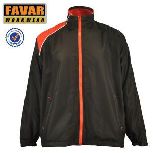 OEM New Design Waterproof Windproof Polyester Dark Blue Stripe Basket Sport Men Jacket pictures & photos