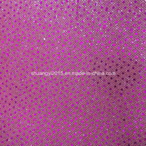 Fashion Sequin Glitter Leather for Ladies Shoes pictures & photos