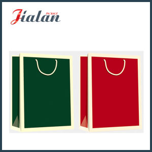 Solid Color Glossy Laminated Coated Paper Shopping Gift Paper Bag pictures & photos