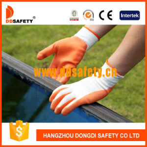 Ddsafety 2017 White Nylon Orange Latex Coated Glove pictures & photos