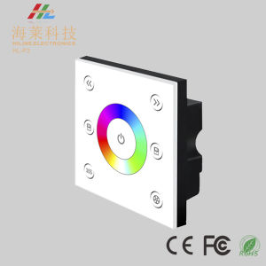 12-24V DC Fashionable Single Zone RGB 4A*3CH LED Touch Panel Controller pictures & photos