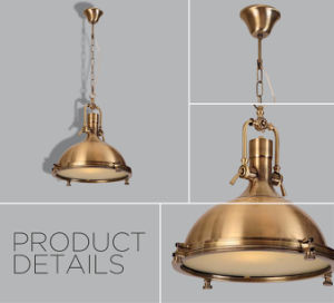 Metallic Casting Industrial Antique Brass Pendant Lamp pictures & photos
