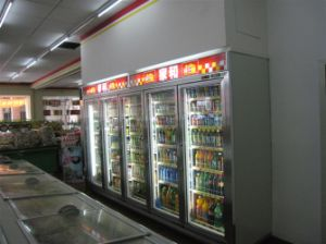 Commercial 4 Glass Door Beverage Display Fridge pictures & photos