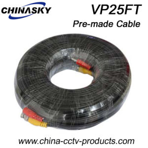 Pre-Made Camera Cable with BNC and DC Connectors, CCTV Coaxial Cable 25m (VP25FT) pictures & photos