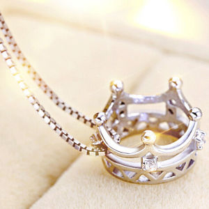 Custom Korea 100% Silver Crown Necklace pictures & photos