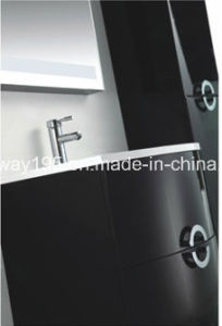 Latest Wall Mounted Italian Design MDF Bathroom Cabinet with Side Cabinet pictures & photos