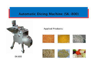 Automatic Vegetables Dicing Machine (SK-800) pictures & photos